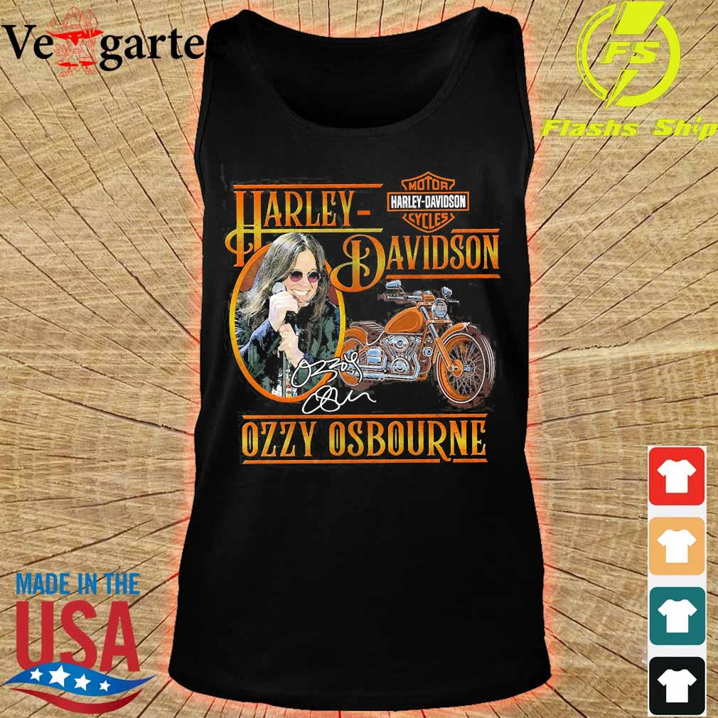 Motor Harley Davidson Cycles Ozzy Osbourne signature s tank top