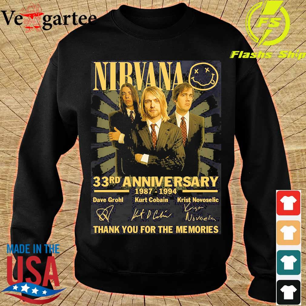 Nirvana 33rd anniversary 1987 1994 thank You for the memories signatures s sweater
