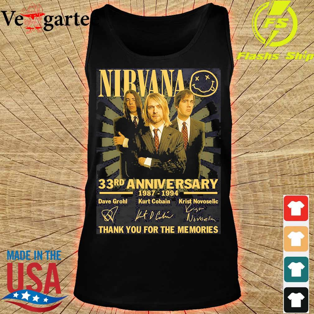 Nirvana 33rd anniversary 1987 1994 thank You for the memories signatures s tank top