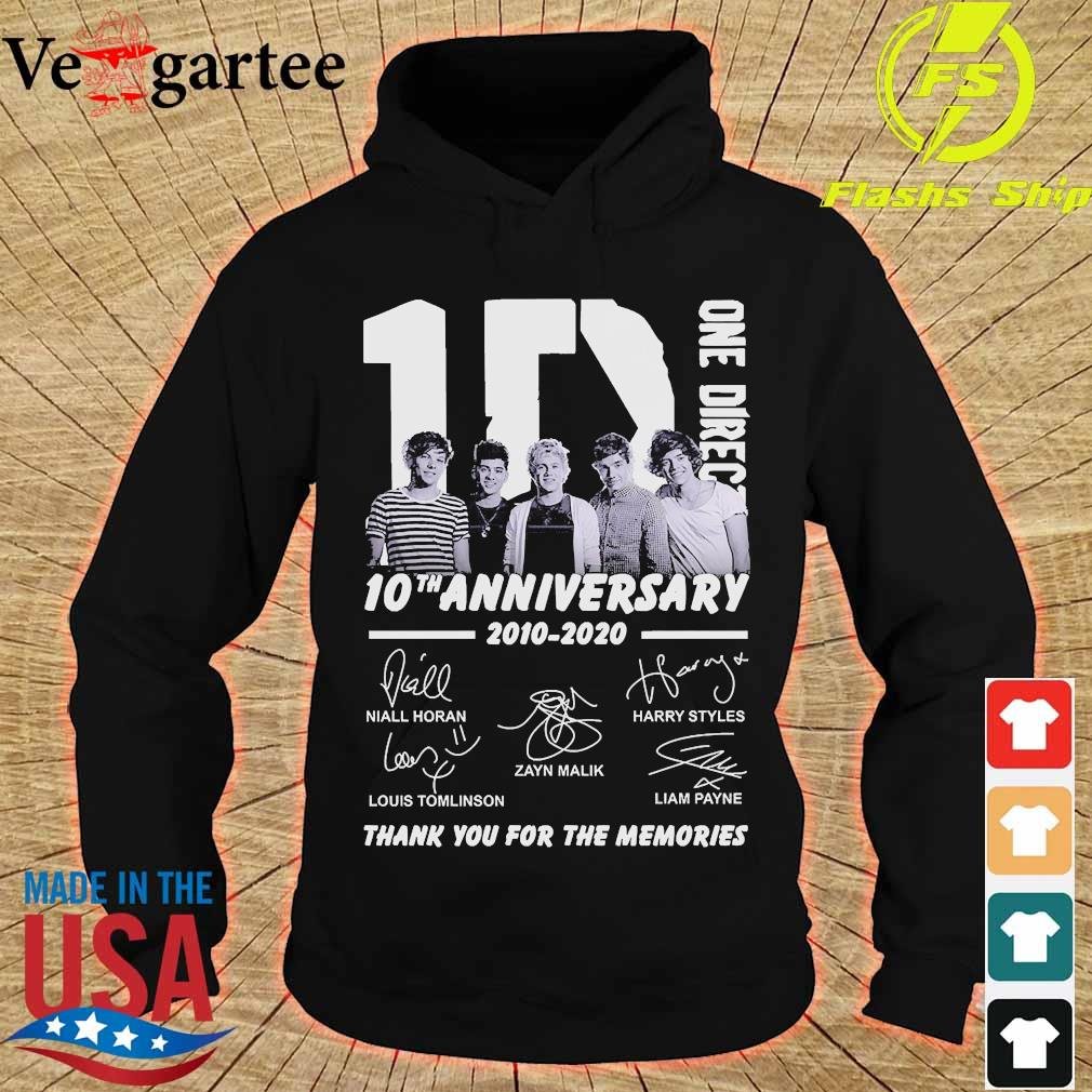 One Direction 10th anniversary 2010 2020 thank You for the memories signatures s hoodie