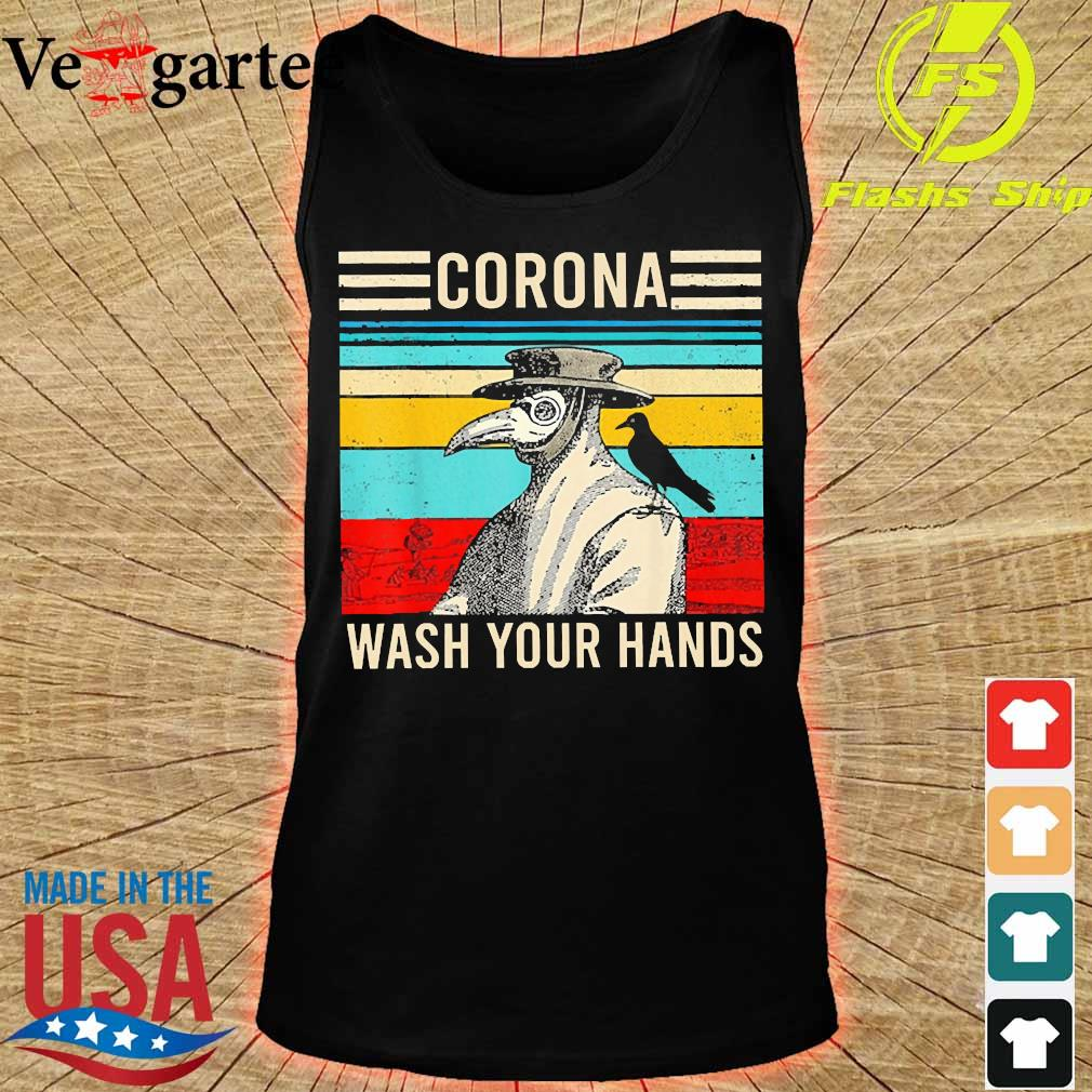 Plague Doctor Corona wash your hands vintage s tank top