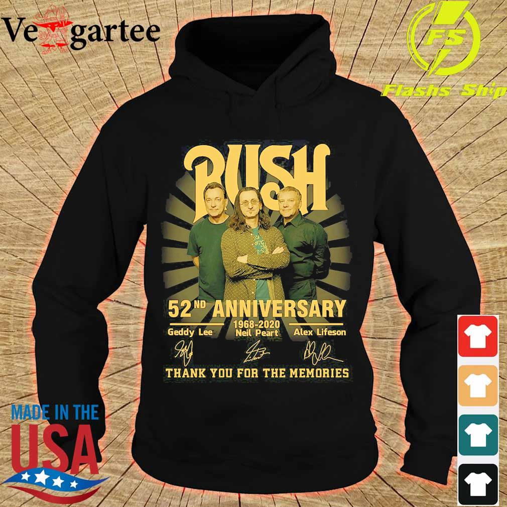 Rush 52nd anniversary 1968 2020 thank You for the memories signatures s hoodie