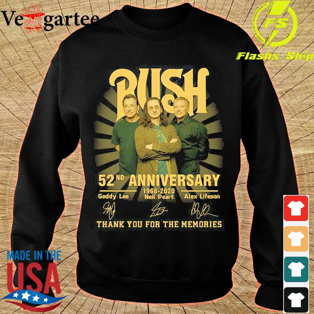 Rush 52nd anniversary 1968 2020 thank You for the memories signatures s sweater