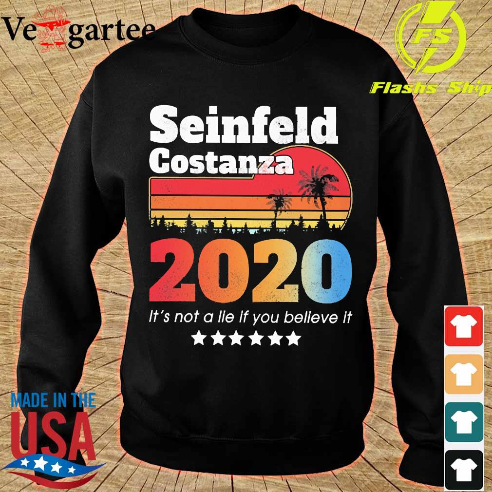 Seinfeld Costanza 2020 It's not a lie if You believe it vintage s sweater