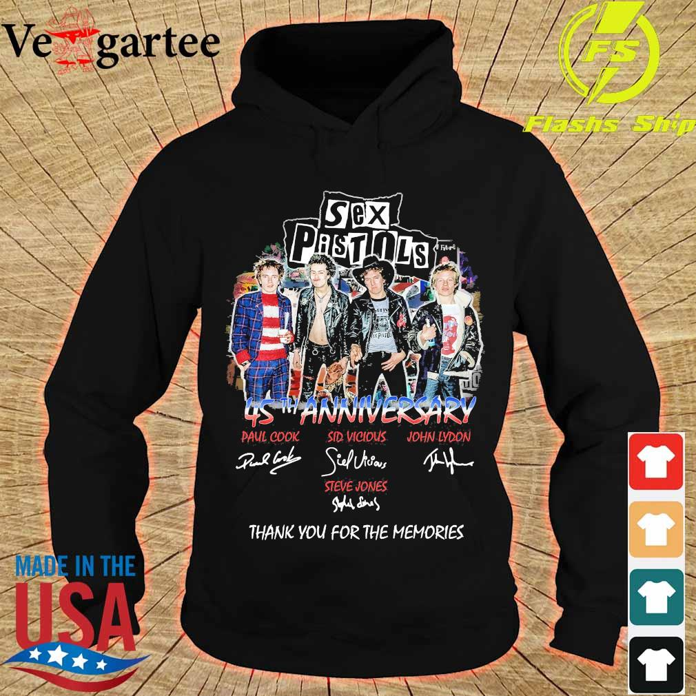Sex Pistols 45th anniversary You for the memories signatures s hoodie