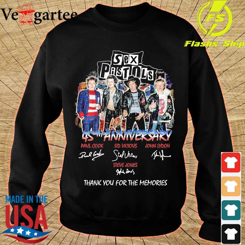 Sex Pistols 45th anniversary You for the memories signatures s sweater