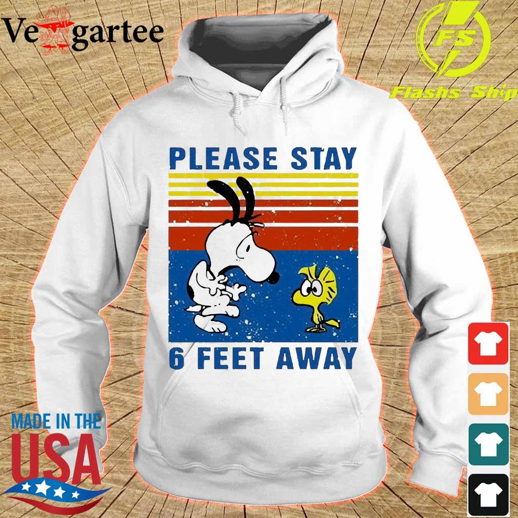 Snoopy and Woodstock please stay 6 feet away vintage s hoodie