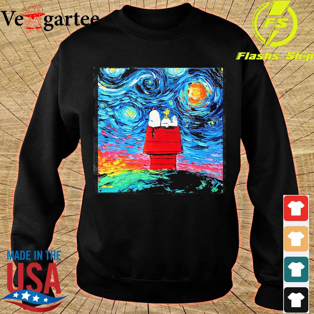 Snoopy Peanuts Starry Night Vincent van Gogh s sweater