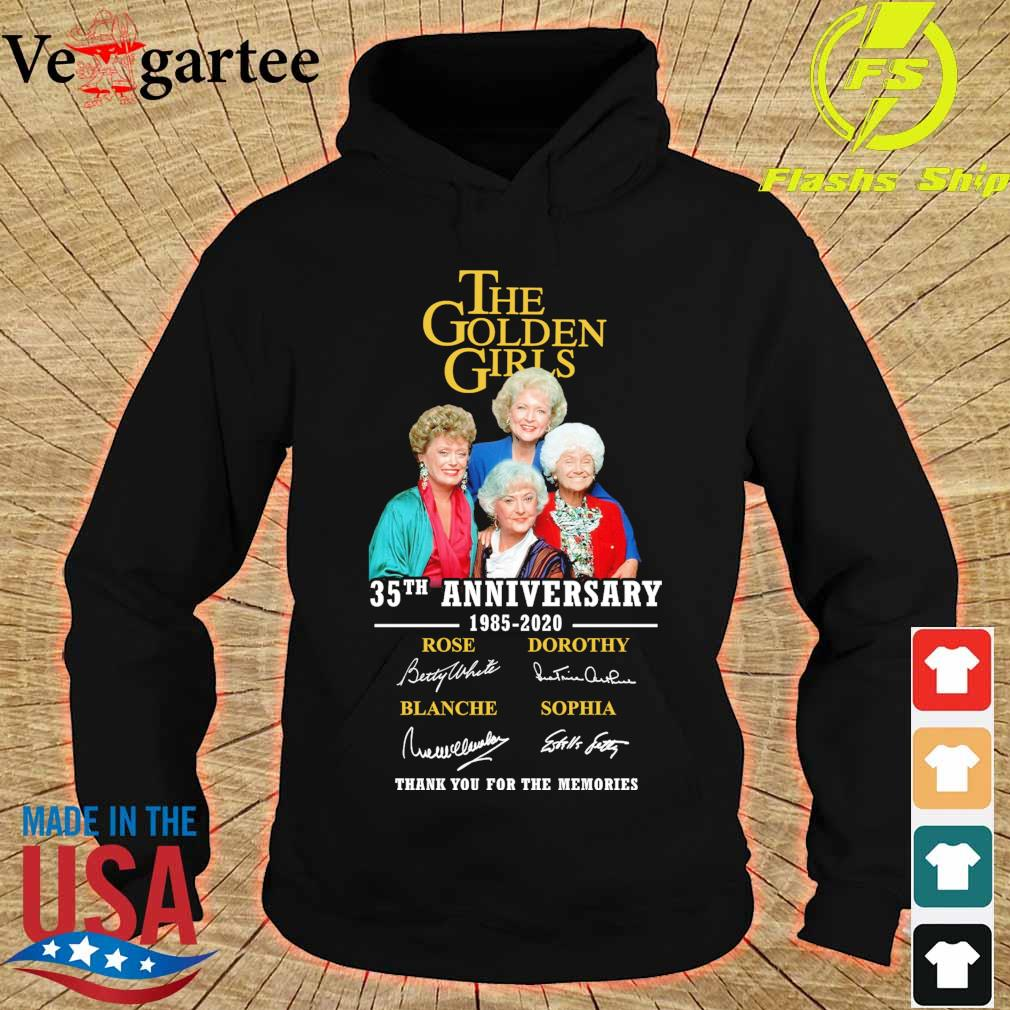 The Golden girls 35Th anniversary 1985 2020 signatures s hoodie