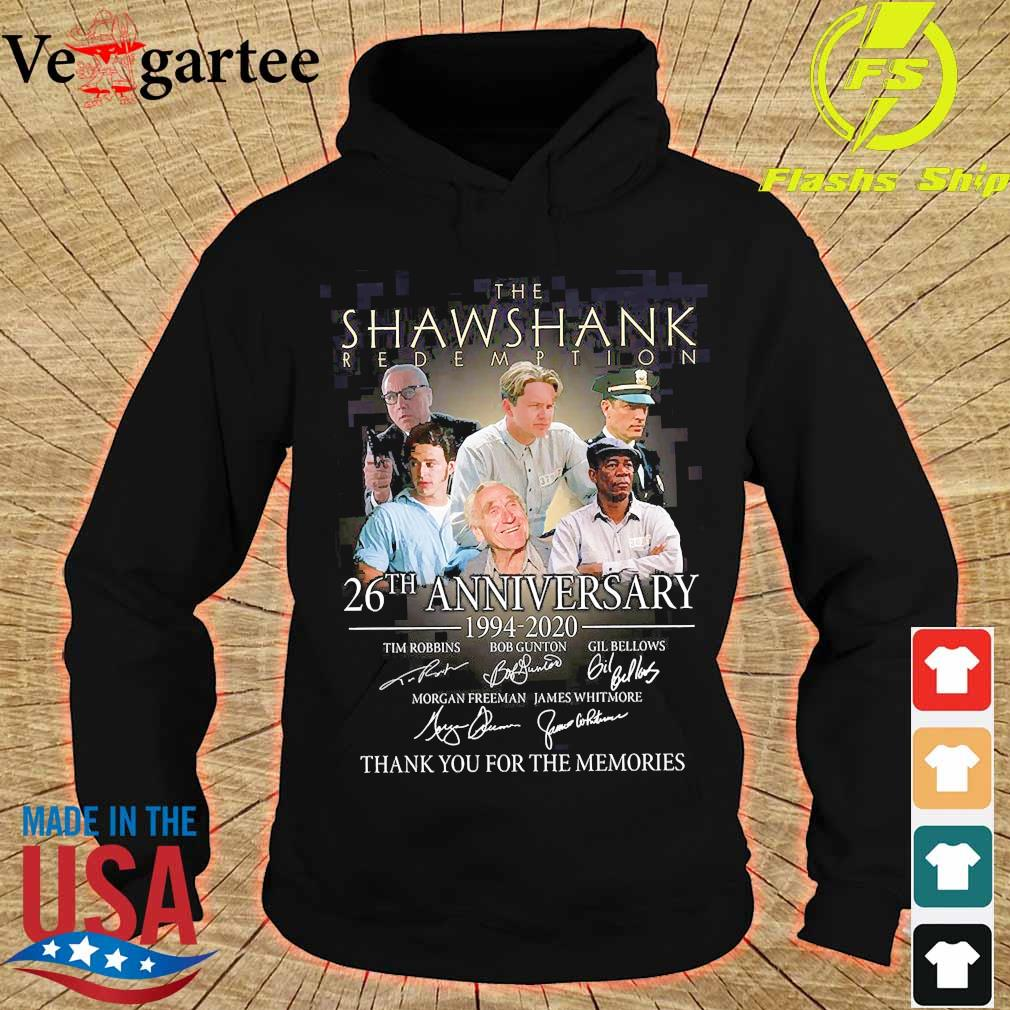 The Shawshank Redemption 26th anniversary 1994 2020 thank You for the memories signature s hoodie