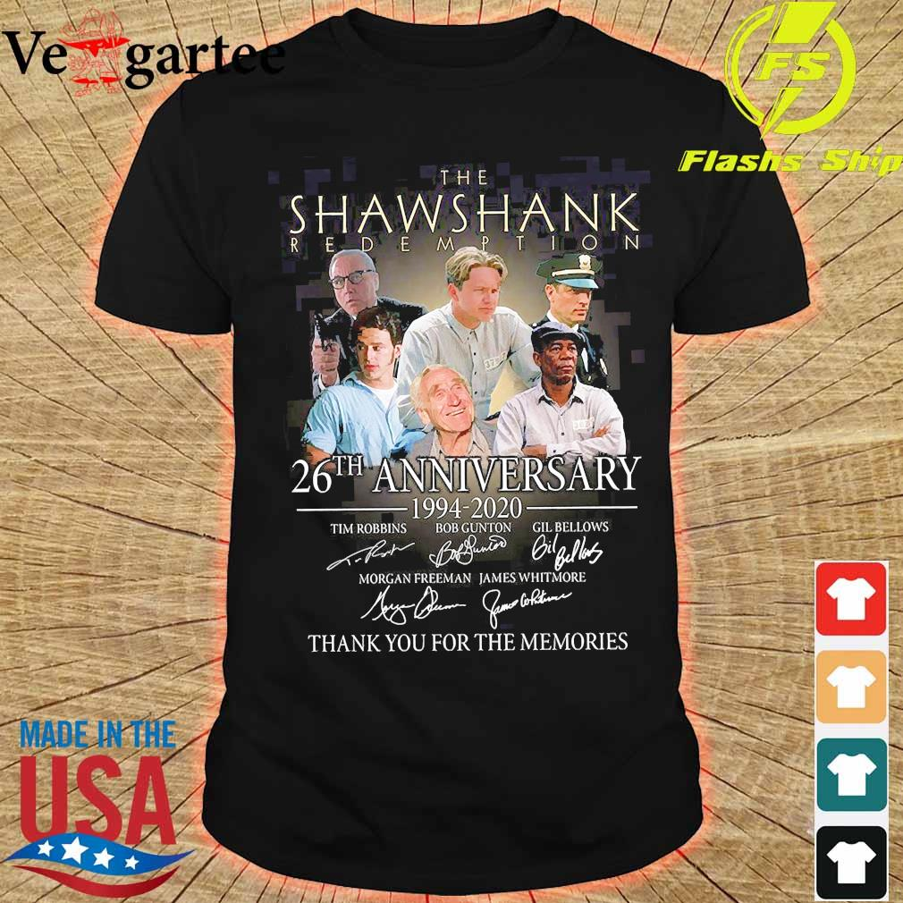 The Shawshank Redemption 26th anniversary 1994 2020 thank You for the memories signature shirt