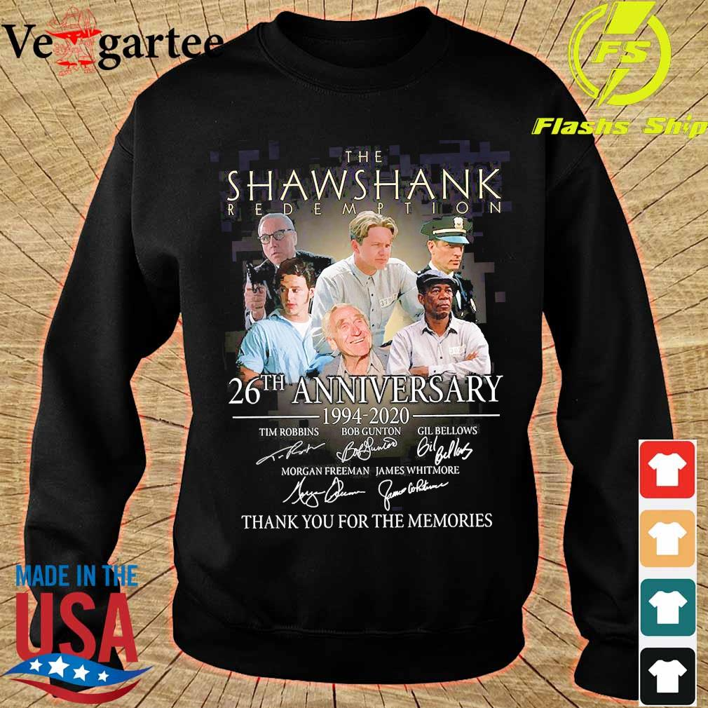 The Shawshank Redemption 26th anniversary 1994 2020 thank You for the memories signature s sweater