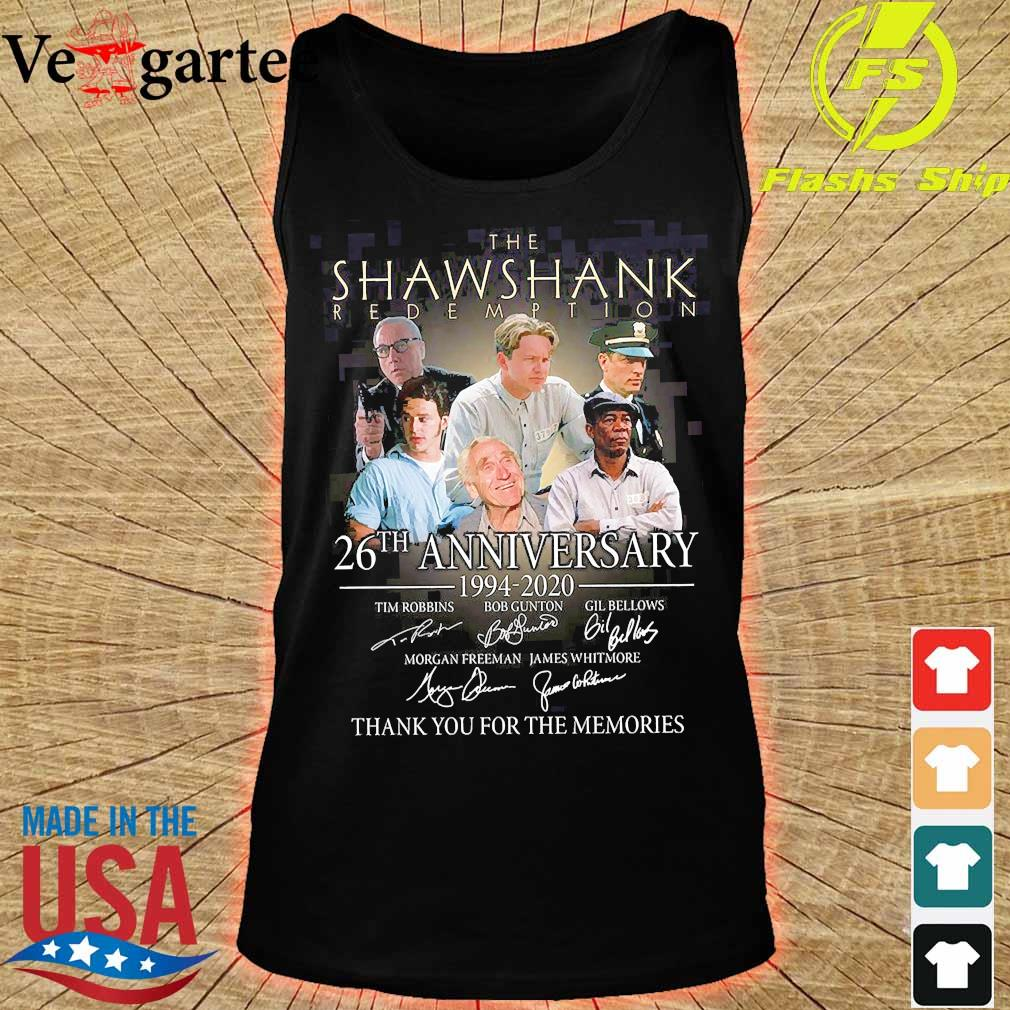 The Shawshank Redemption 26th anniversary 1994 2020 thank You for the memories signature s tank top