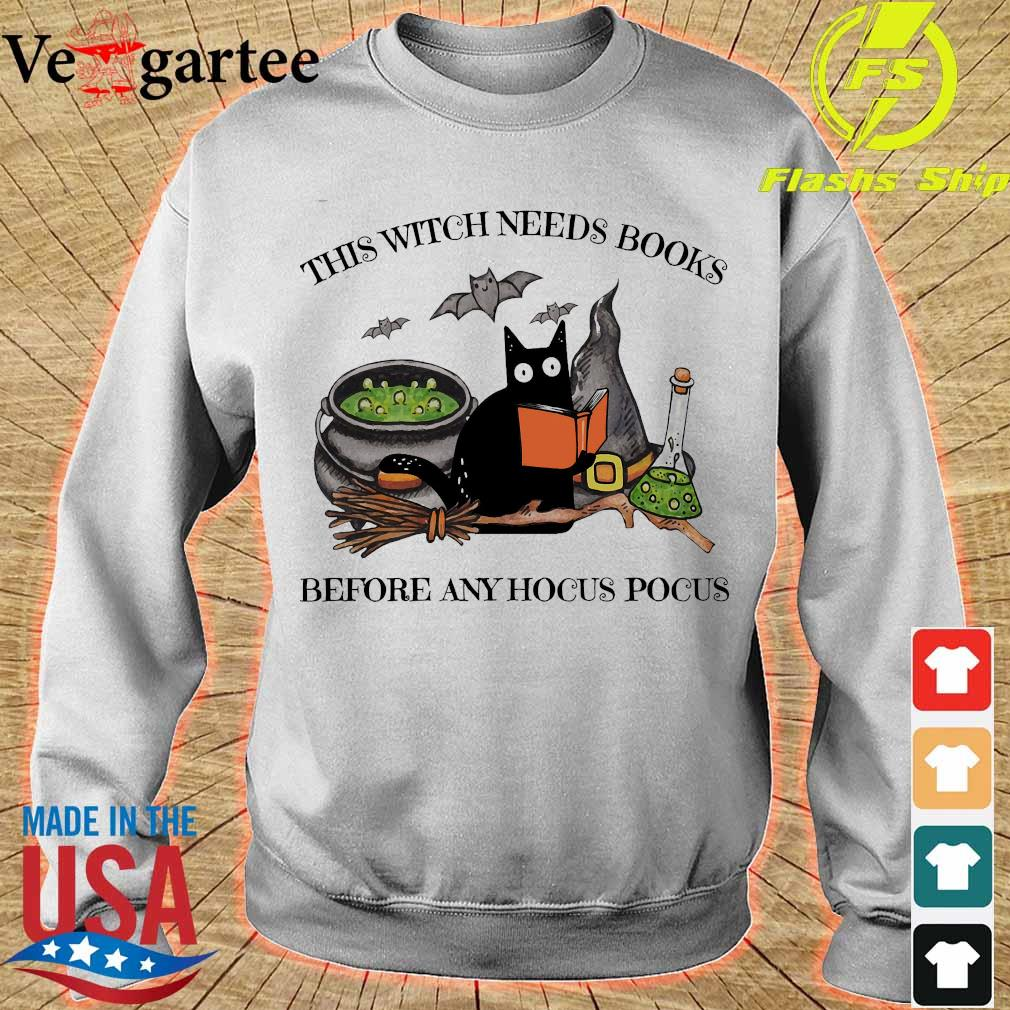 This witch needs books before any hocus pocus s sweater