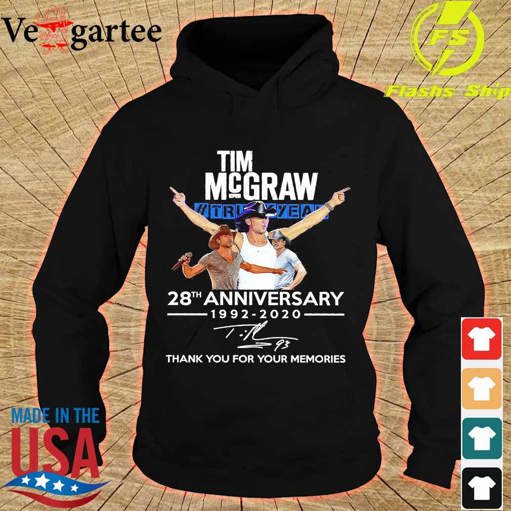 Tim Mcgraw Truck Yeah 28th anniversary 1992 2020 thank You for the memories signature s hoodie