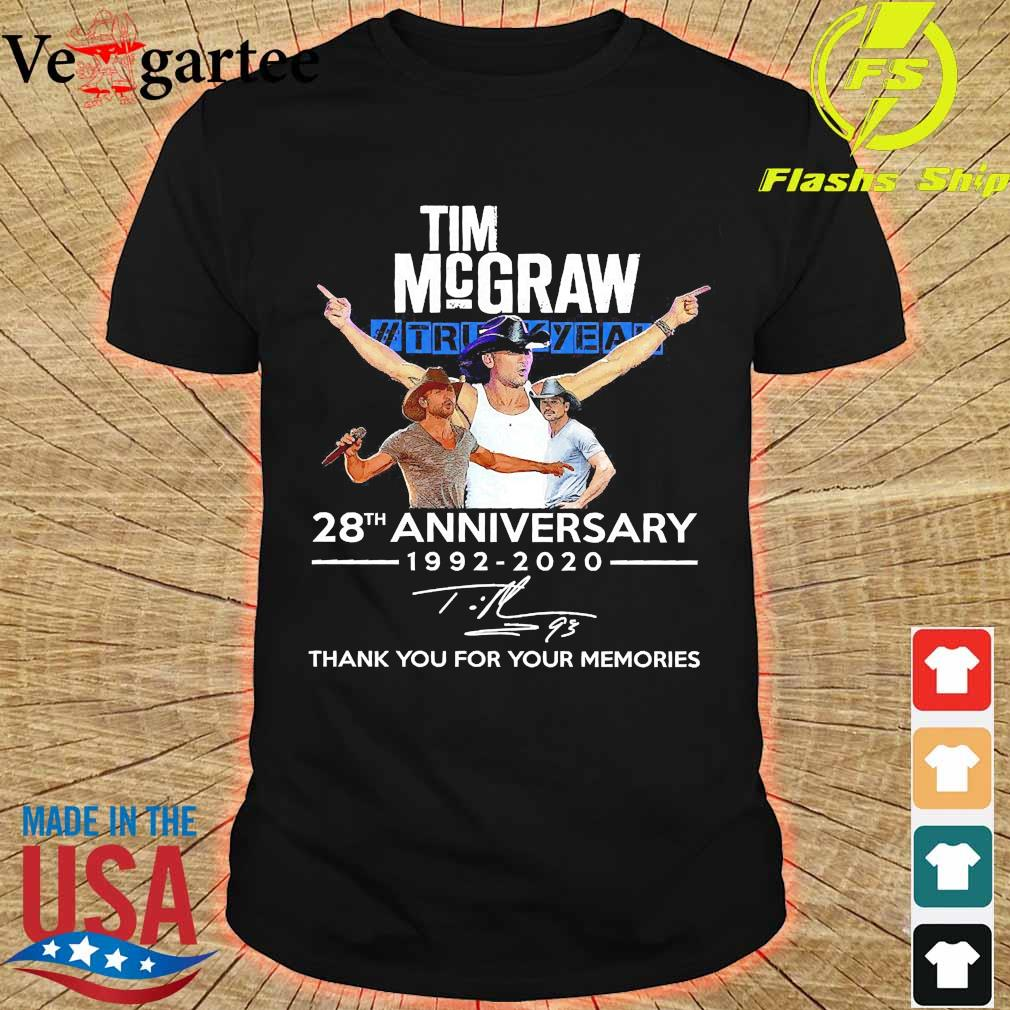 Tim Mcgraw Truck Yeah 28th anniversary 1992 2020 thank You for the memories signature shirt
