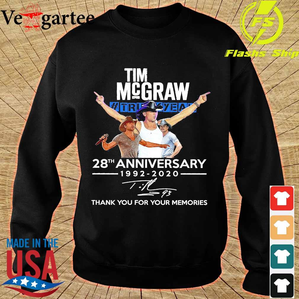 Tim Mcgraw Truck Yeah 28th anniversary 1992 2020 thank You for the memories signature s sweater