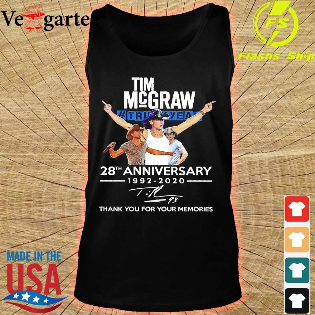 Tim Mcgraw Truck Yeah 28th anniversary 1992 2020 thank You for the memories signature s tank top
