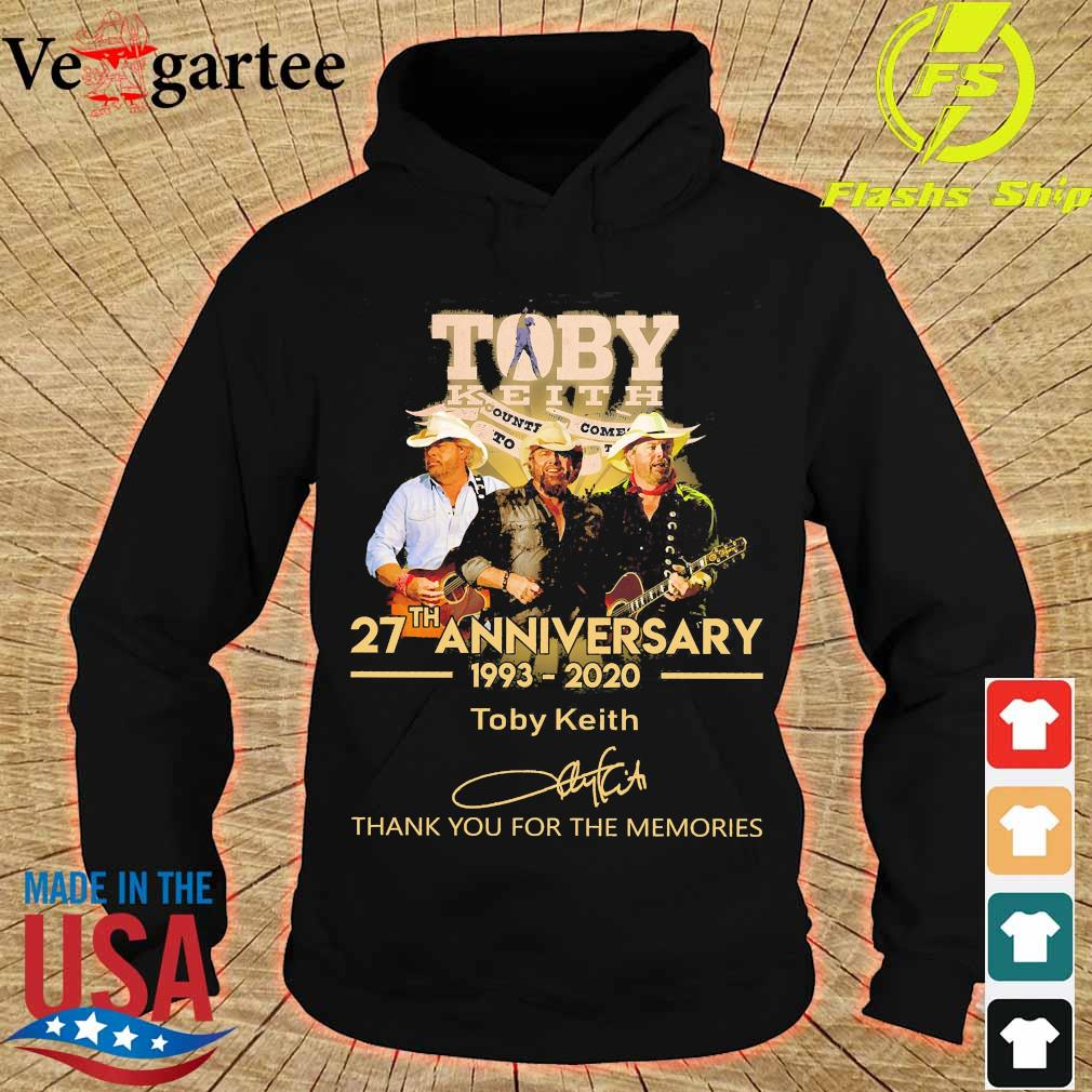 Toby Keith 27th anniversary 1993 2020 thank You for the memories signature s hoodie