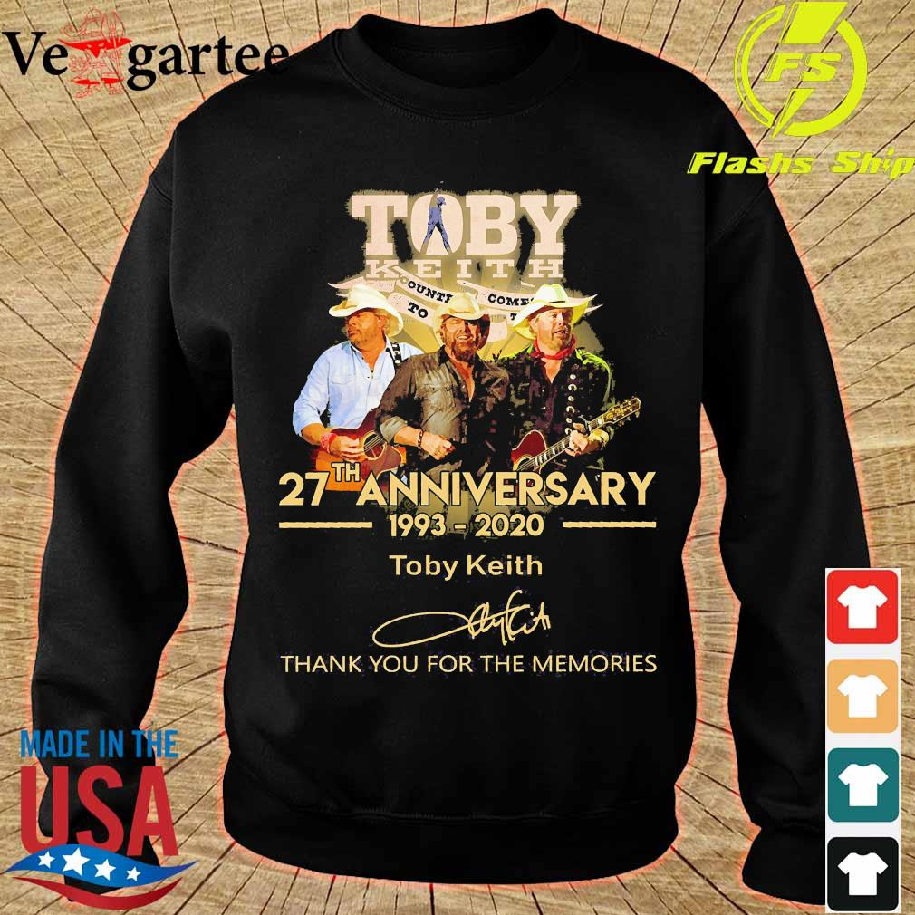 Toby Keith 27th anniversary 1993 2020 thank You for the memories signature s sweater