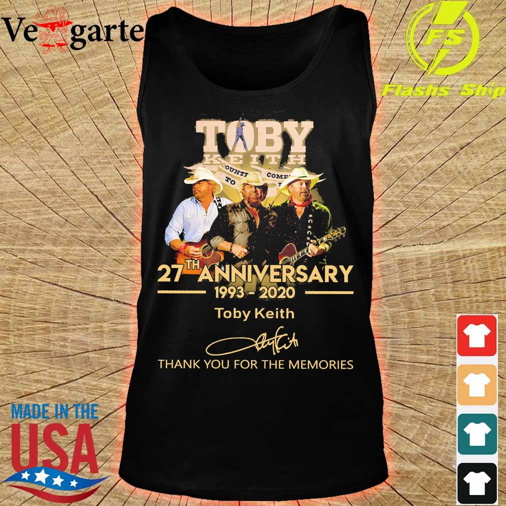 Toby Keith 27th anniversary 1993 2020 thank You for the memories signature s tank top