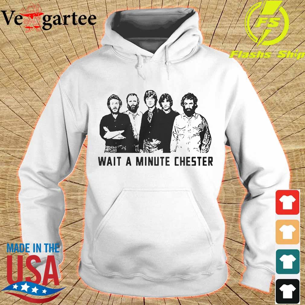 Wait a minute chester the band version s hoodie