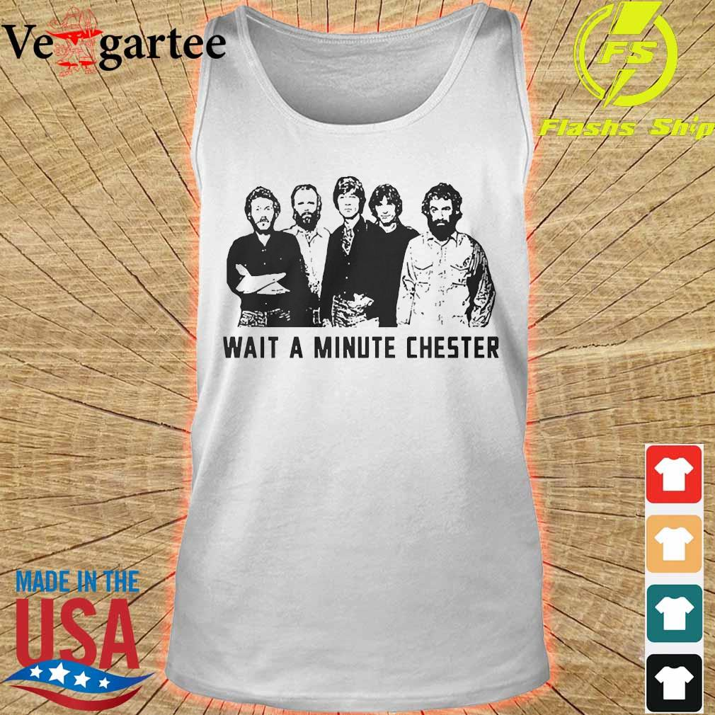 Wait a minute chester the band version s tank top