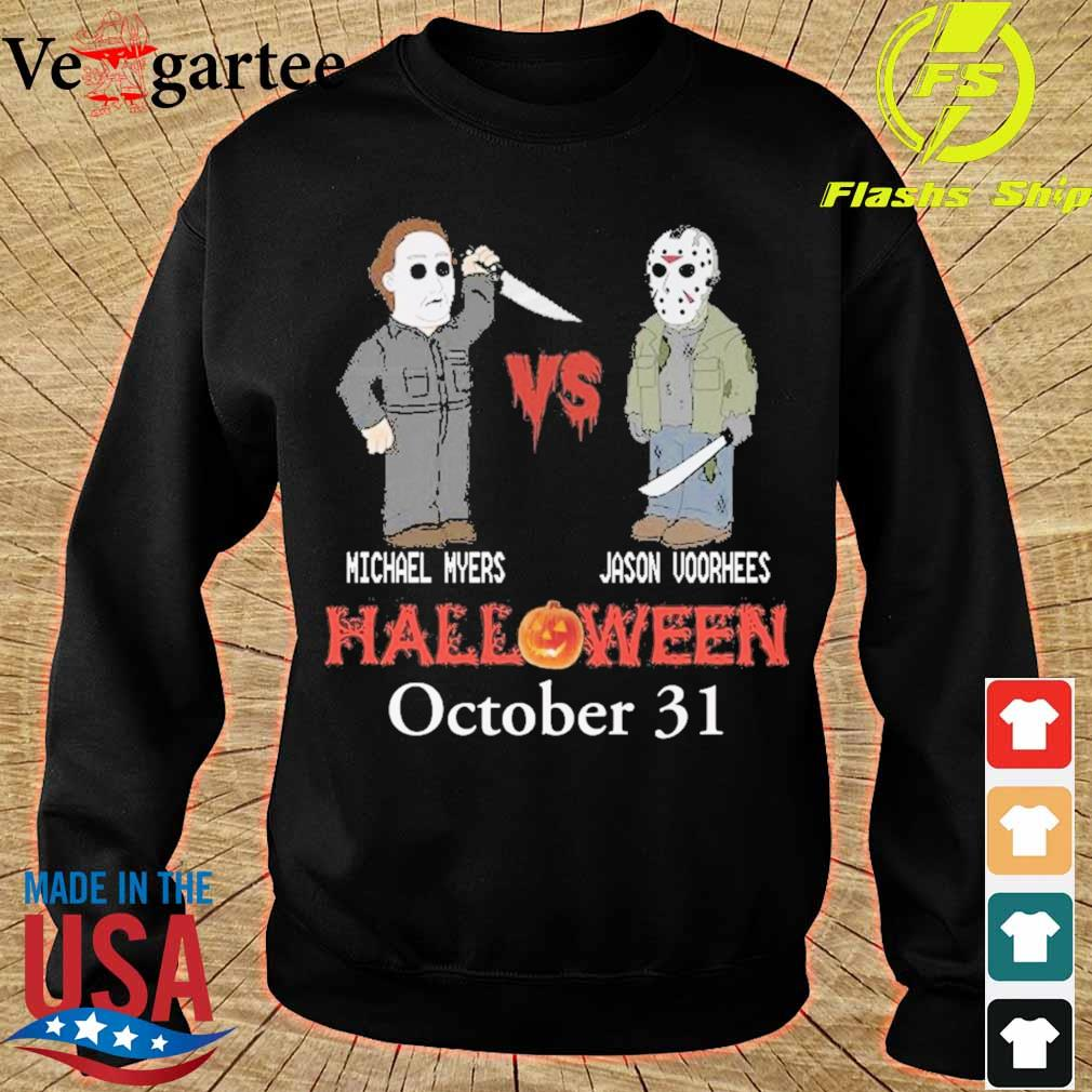 Michael vs Myers Jason Voorhees Halloween october 31 s sweater