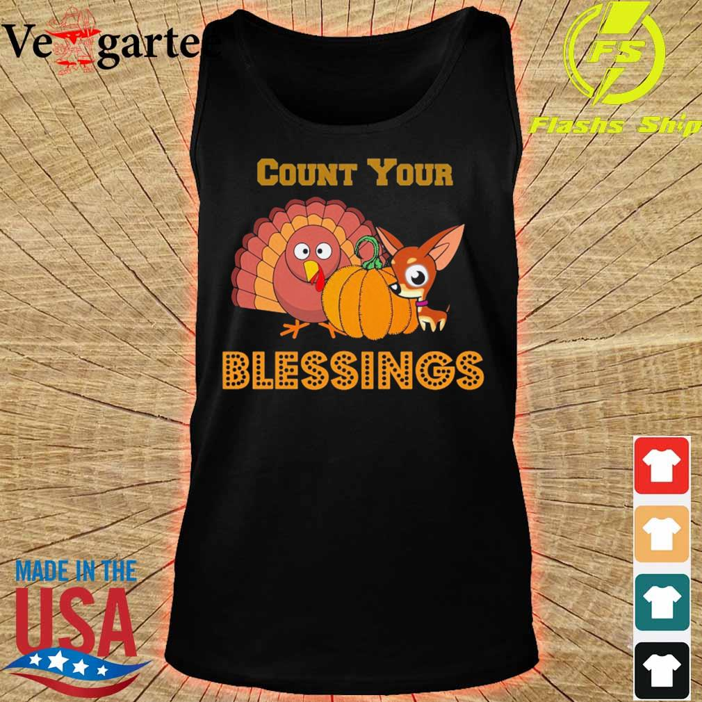 Peacock and Deer Pumpkin Count Your Blessings s tank top