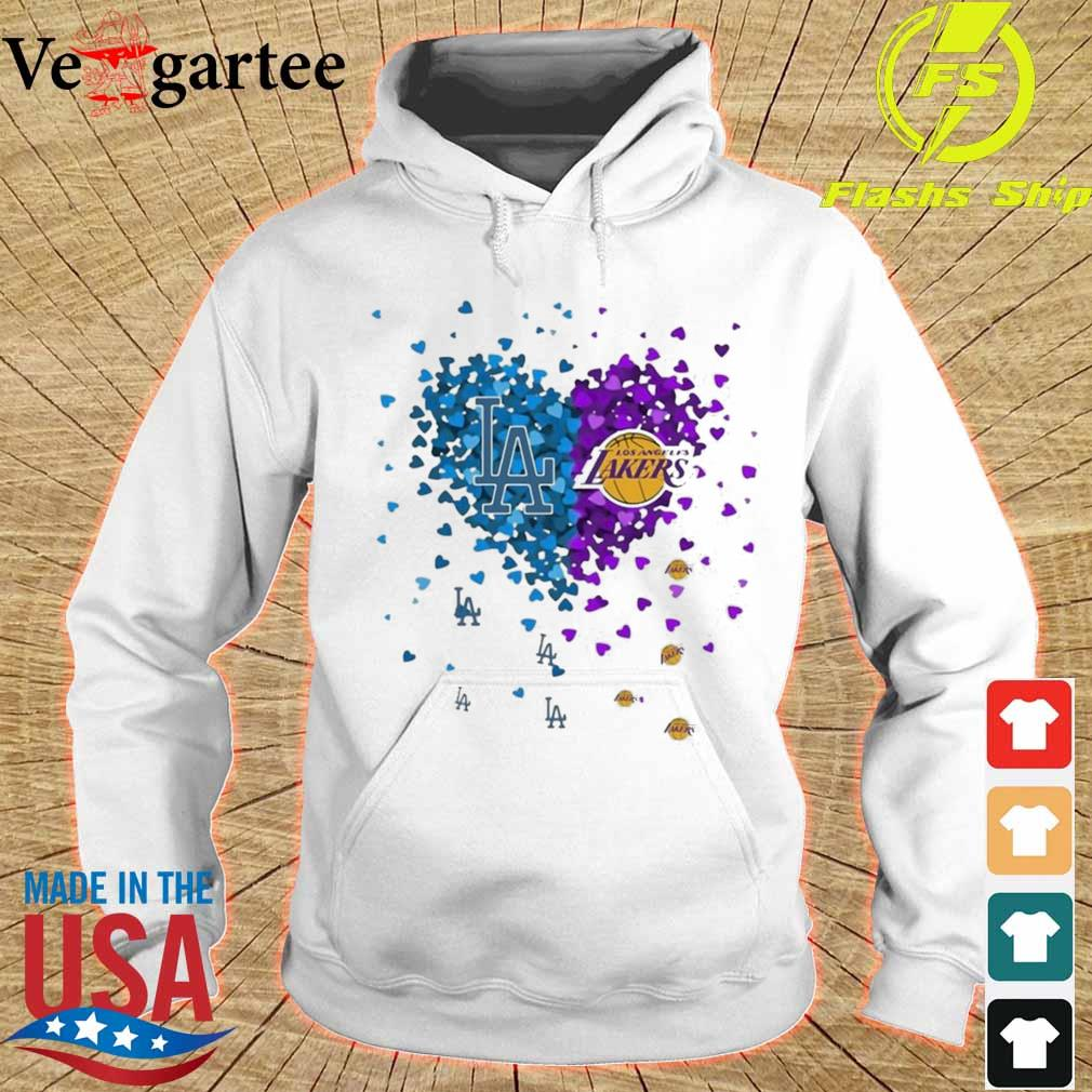 Los Angeles Dodgers And Los Angeles Lakers Heart Shirt hoodie