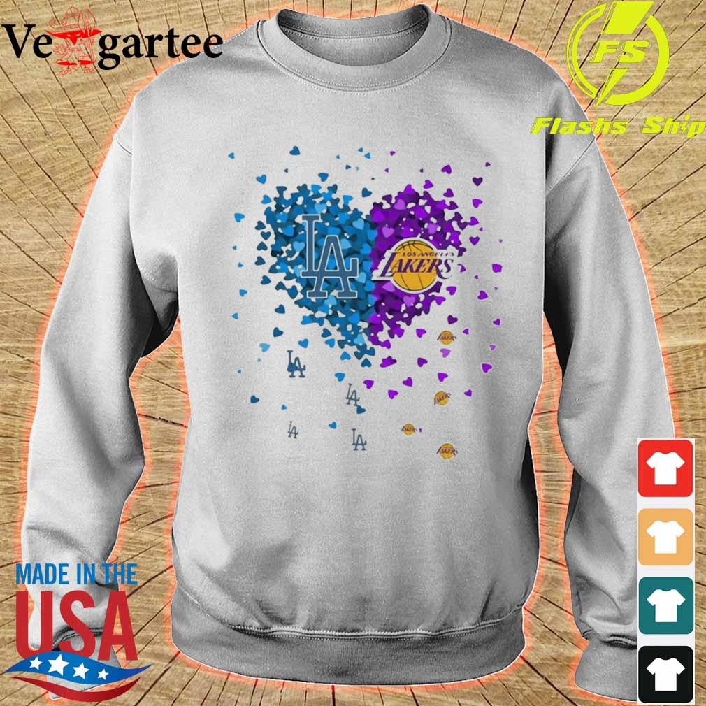 Los Angeles Dodgers And Los Angeles Lakers Heart Shirt sweater
