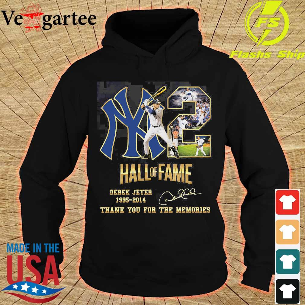 02 Hall of Fame Derek Jeter 1995 2014 thank You for the memories signature s hoodie