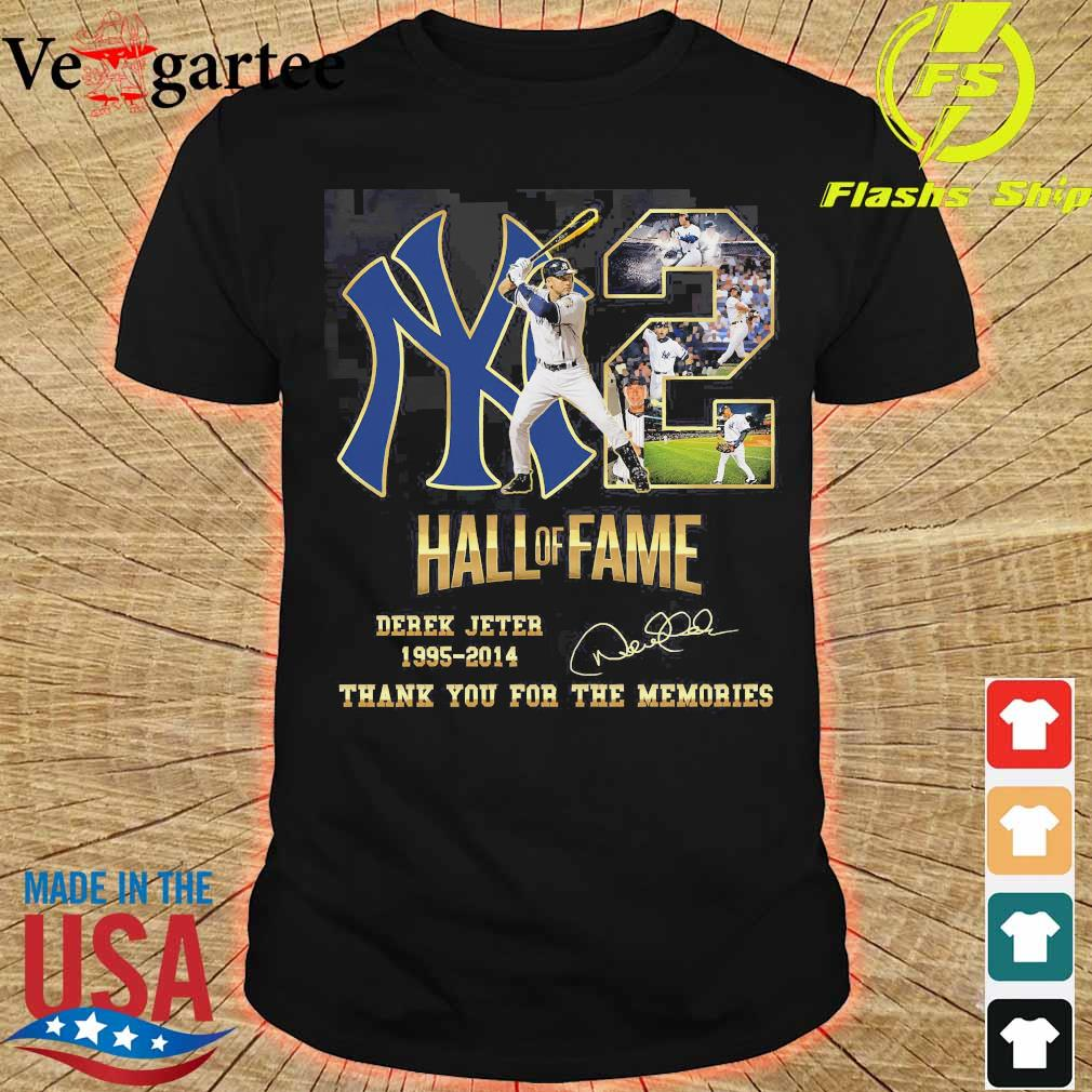 02 Hall of Fame Derek Jeter 1995 2014 thank You for the memories signature shirt