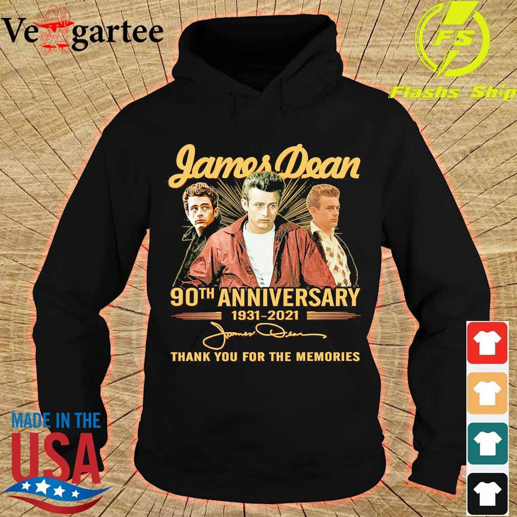 James Dean 90th anniversary 1931 2021 thank You for the memories signatures s hoodie