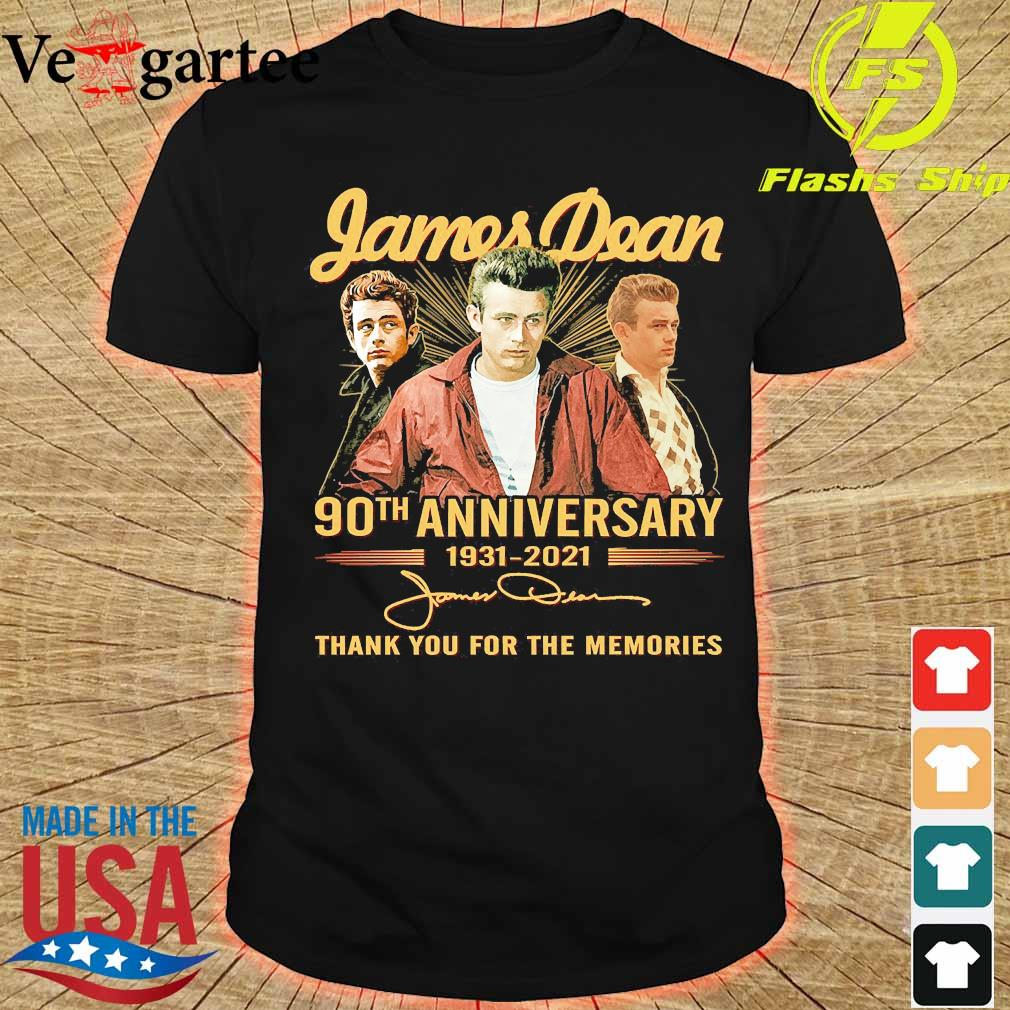 James Dean 90th anniversary 1931 2021 thank You for the memories signatures shirt