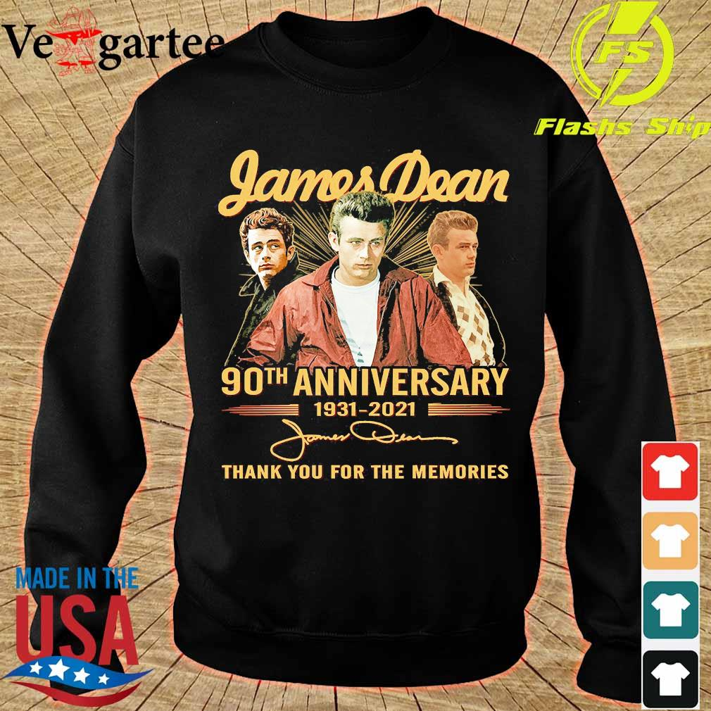 James Dean 90th anniversary 1931 2021 thank You for the memories signatures s sweater
