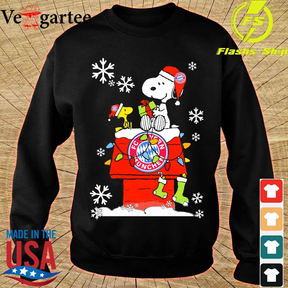 Snoopy and Woodstock FC Bayern Munchen happy Christmas 2020 s sweater