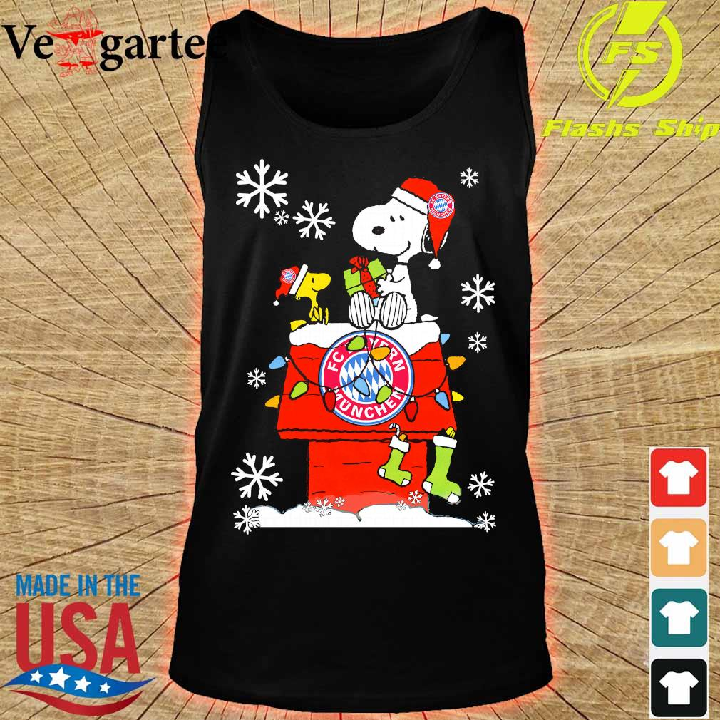 Snoopy and Woodstock FC Bayern Munchen happy Christmas 2020 s tank top